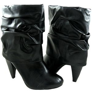 3ed21ac9807 Women s Mid-Calf High Heel Slouched Fashion Boots